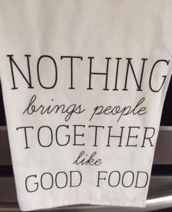 towel with food quote