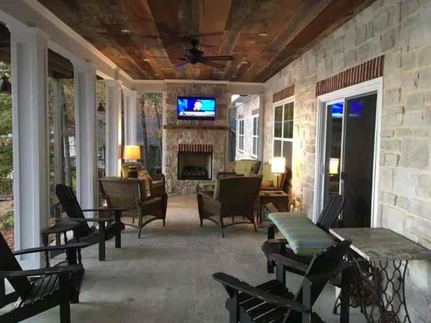 barnwood porch ceiling