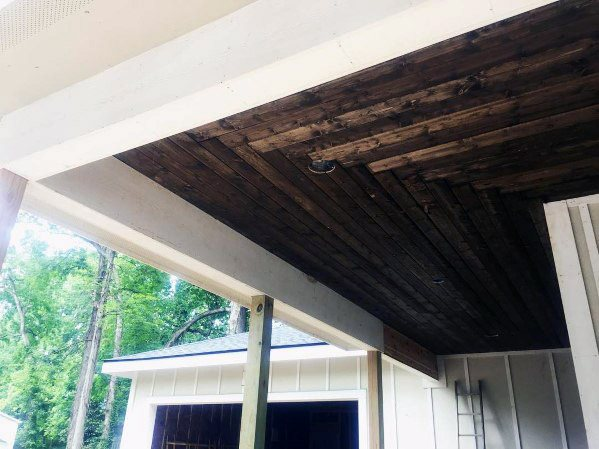 Pattern porch ceiling